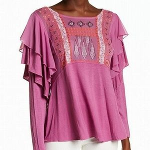 Free People Light Raspberry Top - NWT - Size Small